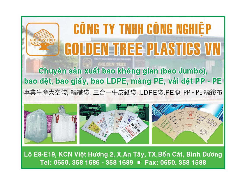 BAO BÌ - SẢN XUẤT & BUÔN BÁN - GOLDEN TREE PLASTICS - bao bì không gian Jumbo, bao LDPE, bao dệt, vải dệt PP - PE