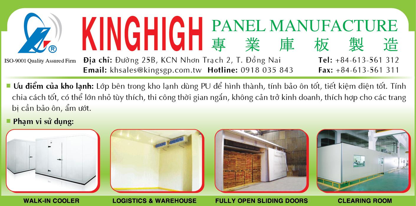 Điện lạnh - Thiết bị KINGHIGH; insulation panels tphcm, insulation panels dong nai, tấm cách nhiệt dàn lạnh, vật tư cách nhiệt kho lạnh