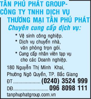 Cty TNHH MTV Dịch Vụ Thương Mại Tân Phú Phát