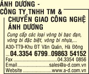 Công ty TNHH Thương mại & chuyển giao công nghệ Ánh Dương