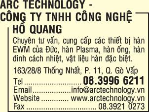 ARC TECHNOLOGY - Công Ty TNHH Công Nghệ Hồ Quang