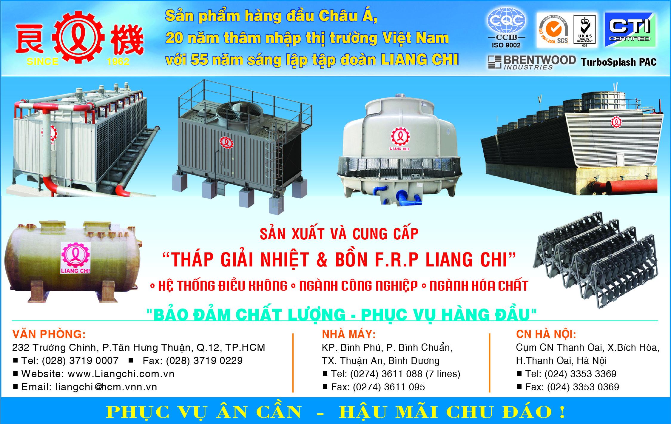 LIANG CHI II - tháp giải nhiệt - bồn giải nhiệt -  Bồn F.R.P Liang Chi - Hệ thống điều không, thap giai nhiet; linh kiện tháp giải nhiệt; tháp giải nhiệt công nghiệp , bồn chứa hóa chất; bồn giản nỡ