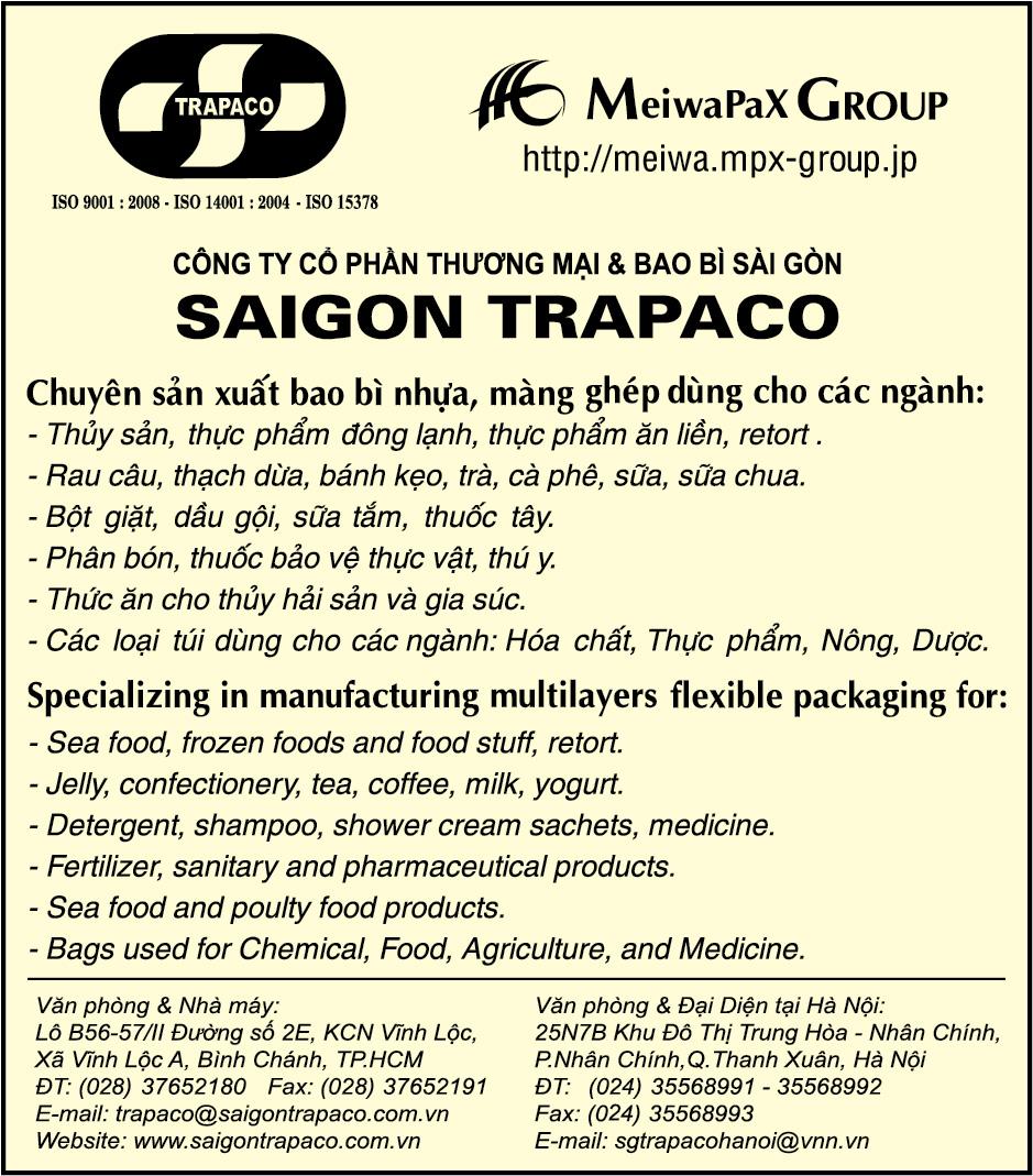 Bao bì - Dịch vụ SaiGon TRAPACO - Sản xuất bao bì nhựa phức hợp - màng ghép bao bì - Bao bì ngành hóa chất - Bao bì ngành dược phẩm - Bao bì ngành thực phẩm - Bao bì phân bón