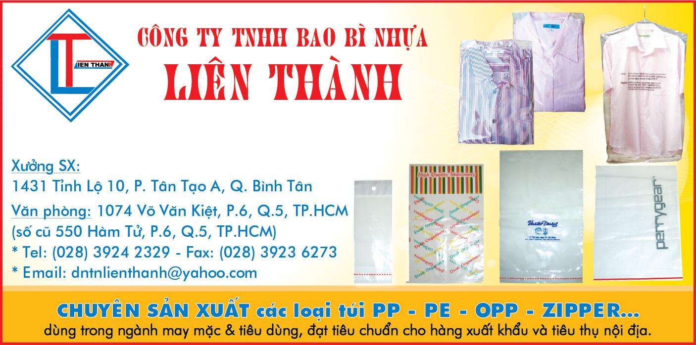 Nhựa bao bì Liên Thành - Túi Zipper dùng trong ngành may mặc, túi nhựa PP PE OPP