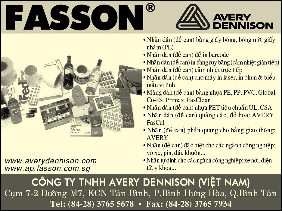 GIẤY ĐỀ CAN AVERY DENNISON VIETNAM 38164639